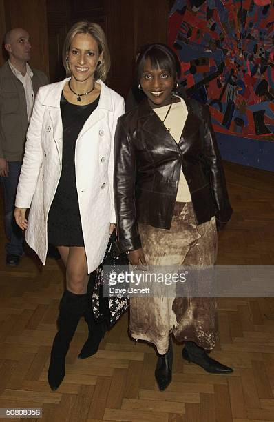 TV presenters Emily Maitlis and Brenda Emmanus attend the first anniversary of advertising mogul Charles Saatchi's contemporary art gallery on 23rd...