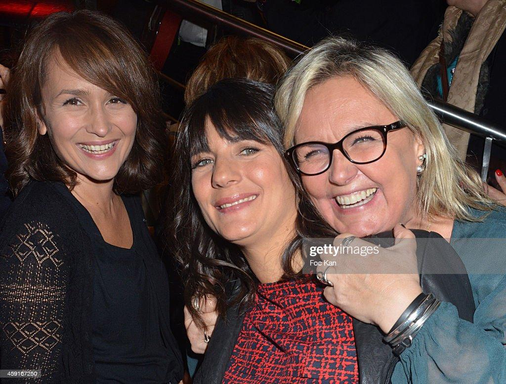 TV presenters Estelle Denis, Solene Chavanne and Valerie Damidot attend Saperlipopette' : Norbert Cremaillere Party on November 17, 2014 in Puteaux, France.