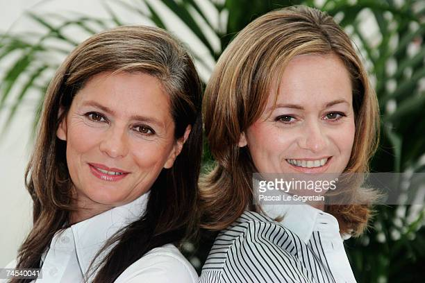 TV presenters Francoise Joly and Guilaine Chenu attend a photocall promoting the television serie 'Envoye Special' on the first day of the 2007 Monte...