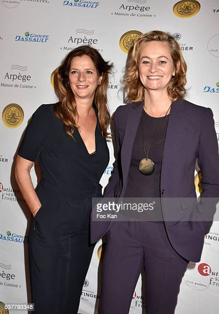 TV presenters Francoise Joly and Guilaine Chenu attend 'Autistes Sans Frontieres' Gala Dinner Arrivals at Hotel Marcel Dassault on June 2 2016 in...