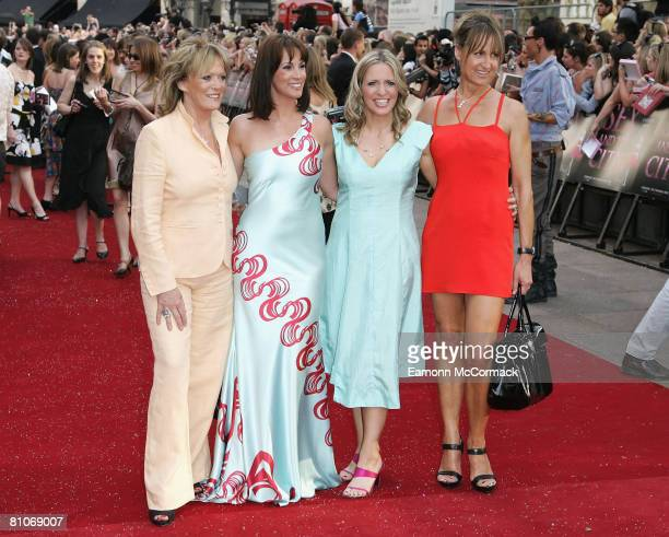 Presenters from 'Loose Women' Sherrie Hewson, Andrea McLean, Jackie Brambles and Carol McGriffin attend the Sex And The City world premiere held at...