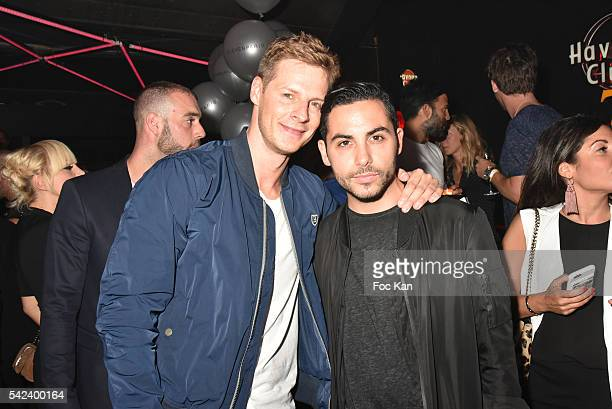 TV presenters from TPMP Mathieu Delormeau and Alban Bartoli attend Eleven Paris Menswear SS2017 Fashion Week Party at Badaboum Club on June 22 2016...