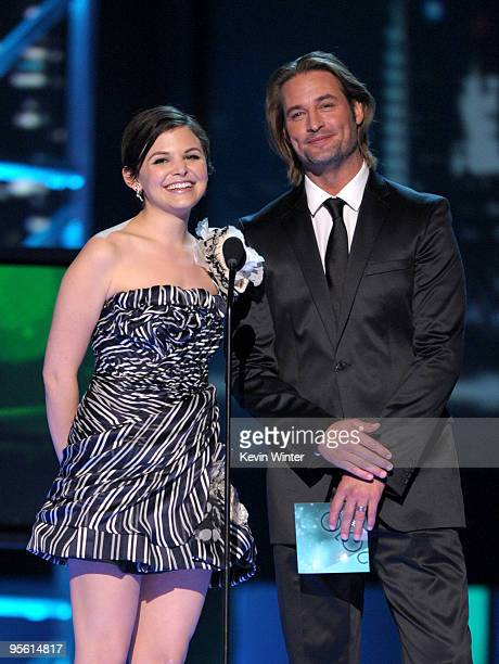 Presenters Ginnifer Goodwin and Josh Holloway speak onstage during the People's Choice Awards 2010 held at Nokia Theatre L.A. Live on January 6, 2010...