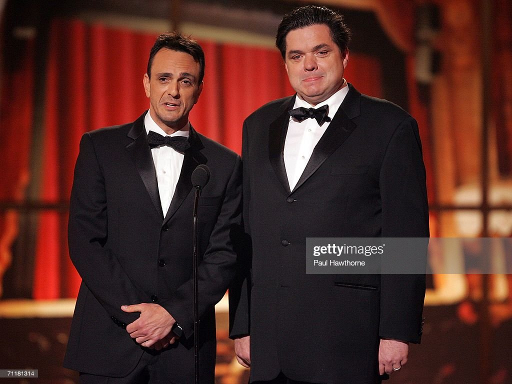 Presenters Hank Azaria and Oliver Platt onstage at the 60th Annual Tony Awards at Radio City Music Hall June 11, 2006 in New York City.