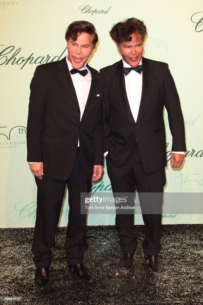 TV Presenters Igor and Grichka Bogdanoff attend the Chopard 150th Anniversary Party at the VIP Room, Palm Beach during the 63rd Annual International Cannes Film Festival on May 17, 2010 in Cannes, France.