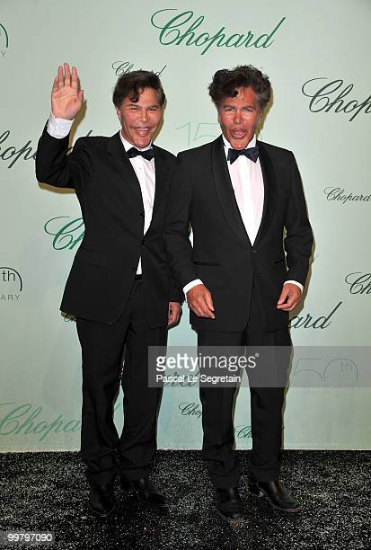 Presenters Igor and Grichka Bogdanoff attends the Chopard 150th Anniversary Party at Palm Beach Pointe Croisette during the 63rd Annual Cannes Film...