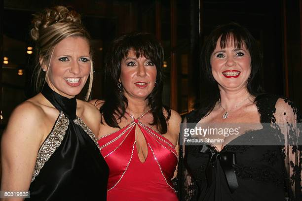 Presenters Jackie Brambles, Jane McDonald and Coleen Nolan attend The Royal Television Society Programme Awards held at the Grosvenor House Hotel on...