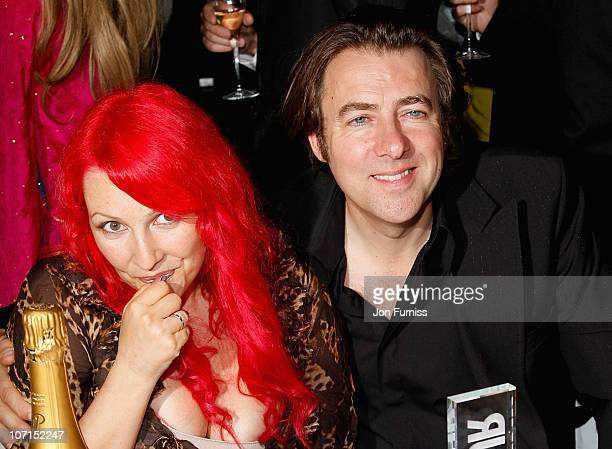 Presenters Jane Goldman and Jonathan Ross during the Glamour Women Of The Year Awards held at Berkeley Square Gardens on June 3, 2008 in London,...
