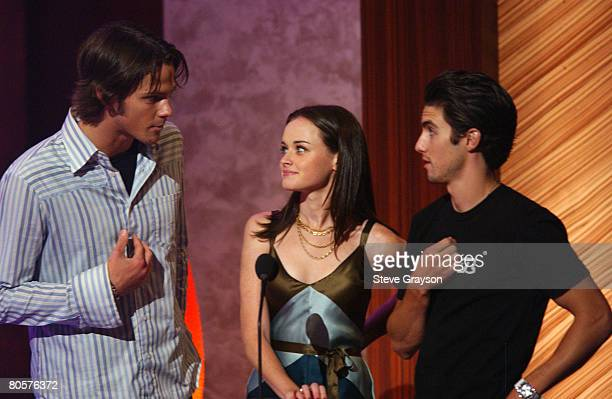 Presenters Jared Padalecki Alexis Bledel and Milo Ventimiglia for Choice TV Reality Scariest Moment