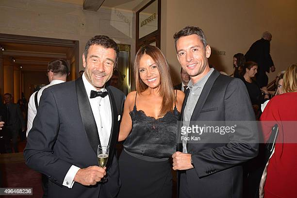 TV presenters Jean Marie Juan Karine Arsene and Stephane Jobert attend '23rd Gala Pour L'Espoir 2015' Auction Show To Benefit Against Cancer...