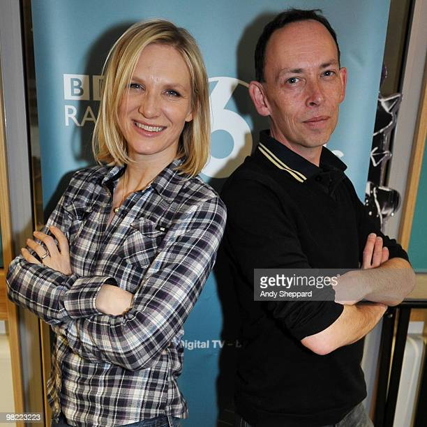 Presenters Jo Whiley and Steve Lamacq host a special edition of The Evening Session at the BBC 6 Music Studios on April 2 2010 in London England