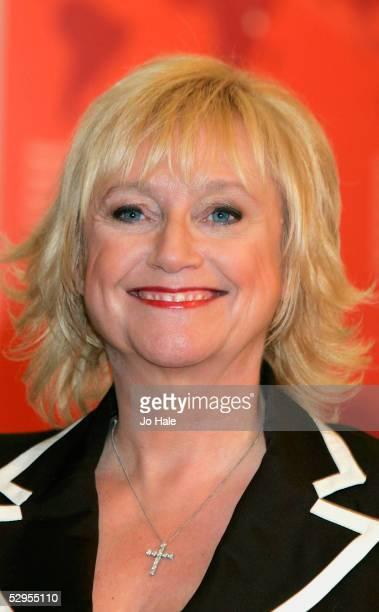 Presenters Judy Finnigan launches a new Vodafone handset at the Vodafone Experience Store Oxford Street on May 20 2005 in London The new phone called...