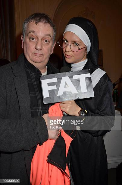 Presenters Jules Edouard Moustic aka Christian Borde and Hayley Edmonds attend the 'Canal Street' Concert Party at Cafe Carmen on January 26, 2011 in...