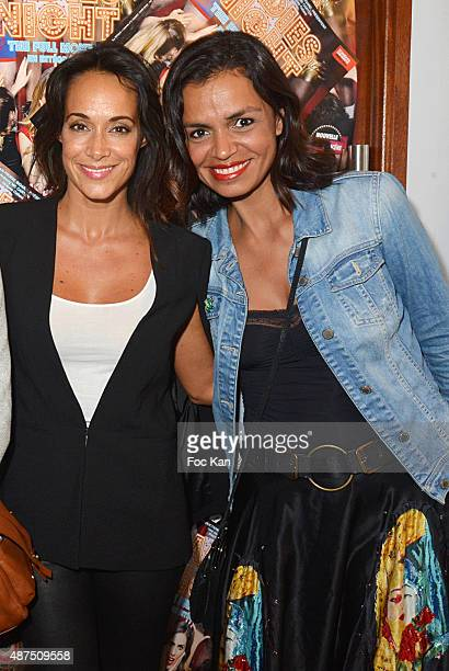 TV presenters Karine Lima and Laurence Roustandjee attend the 'Ladies Night' Generale at the Palais des Glaces on September 9on September 9 2015 in...