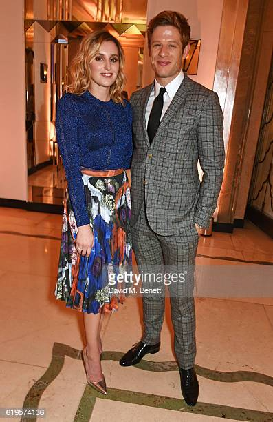 Presenters Laura Carmichael and James Norton attend the Harper's Bazaar Women of the Year Awards 2016 at Claridge's Hotel on October 31 2016 in...
