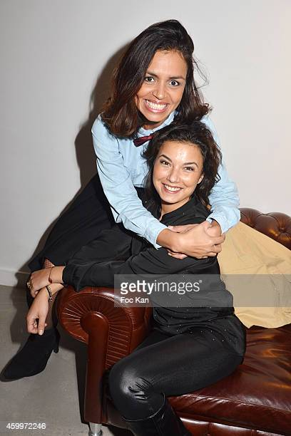 TV presenters Laurence Roustandjee and Anais Baydemir attend the 'Espace Basus' Opening Party at Au Pied Du Perchoir on December 4 2014 in Paris...