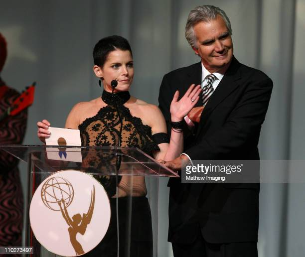 Presenters Lesli Kay and John McCook during The 33rd Annual Daytime Creative Arts Emmy Awards in Los Angeles Show at The Grand Ballroom at Hollywood...