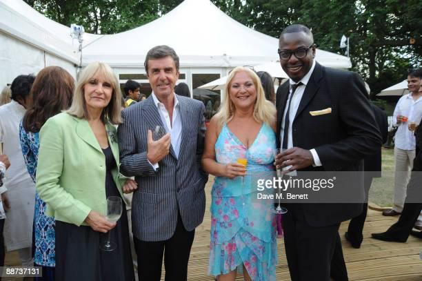 TV presenters Lynn Faulds Wood and husband John Stapleton TV and radio presenter Vanessa Feltz and her partner Ben Ofoedu attend Pratham UK's first...