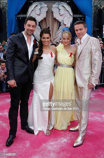 Presenters Marco Schreyl, Doris Golpashin, Mirjam Weichselbraun and Alfons Haider attend the 19th Life Ball at the Town Hall Town Hall on May 21,...