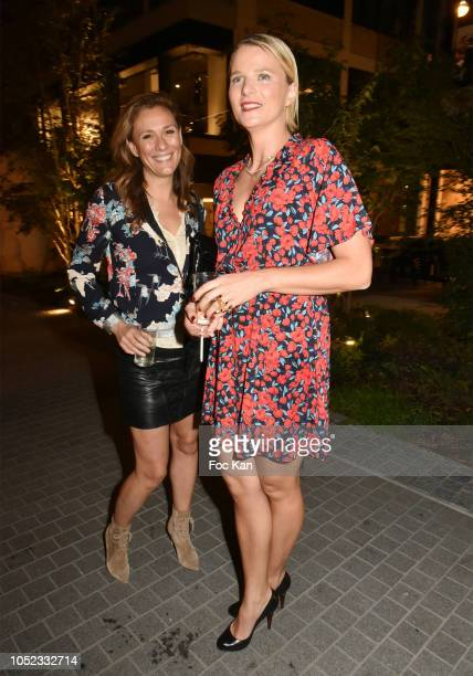 TV presenters Marie Mamgioglou France2 and France Pierron L' Equipe21 attend The 'Champion Spirit' Rive Gauche Launch Party at Beaupassage 14 Bd...