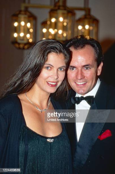 TV presenters Maxi Biewer and Wolfram Kons at the UFA Filmball in Duesseldorf Germany 1991
