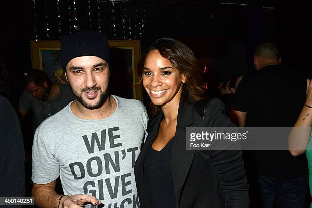 TV presenters Mourad Moux and Alicia Fall attend the Quentin Margot And Mourad Moox DJ Set At The Tres Honore on November 16 2013 in Paris France