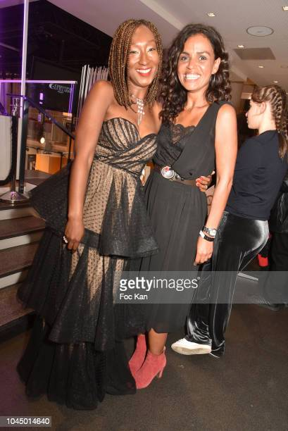 TV presenters Nadege BeaussonDiagne and Laurence Roustandjee attend the Christophe Guillarme show as part of the Paris Fashion Week Womenswear...