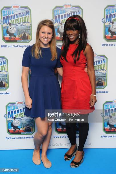 Presenters of Channel 5's Milkshake Olivia Birchenough and Kemi Majeks arriving at the premiere of Thomas and Friends Blue Mountain Mystery at Vue...
