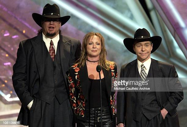 Presenters Penn Teller with Karri Turner during 38th Annual Academy of Country Music Awards Show at Mandalay Bay Event Center in Las Vegas Nevada...
