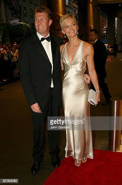 TV presenters Peter Overton and Jessica Rowe attend the Australian Red Cross 90th Anniversary Gala at the Westin Hotel on March 2 2005 in Sydney...