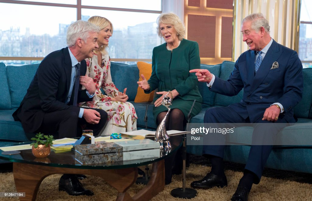 The Prince Of Wales And The Duchess Of Cornwall Visit The Royal Television Society : News Photo