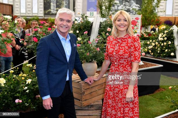 Presenters Phillip Schofield and Holly Willoughby attend the Chelsea Flower Show 2018 on May 21 2018 in London England