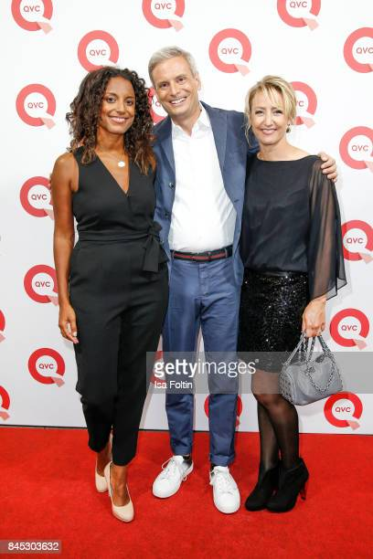 QVC presenters Pia Ampaw Sascha Heyna and kerstin Braukmann attend a QVC event during the Vogue Fashion's Night Out on September 8 2017 in...