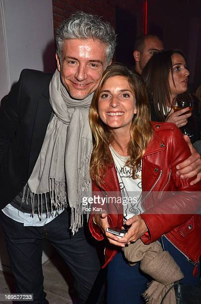 TV presenters Pierre Zeni and Helene Verbois attend The Queer Film Awards 2013 Cocktail at Terrazza Martini The 66th Annual Cannes Film Festival on...