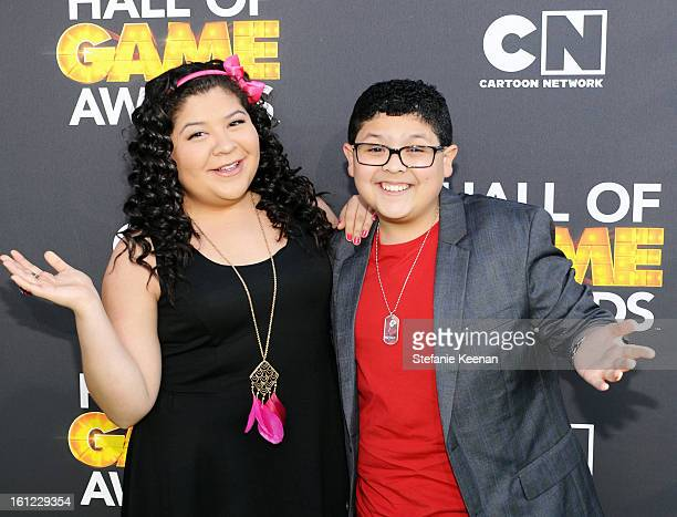 Presenters Raini Rodriguez and Rico Rodriguez attend the Third Annual Hall of Game Awards hosted by Cartoon Network at Barker Hangar on February 9,...