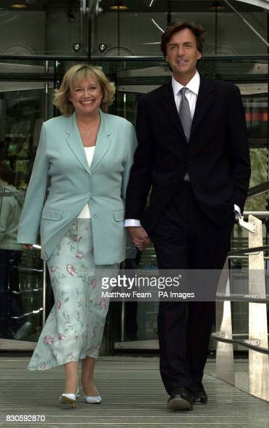 TV presenters Richard Madeley and Judy Finnigan outside the Channel 4 building in London after announcing a twoyear deal with the channel The TV...
