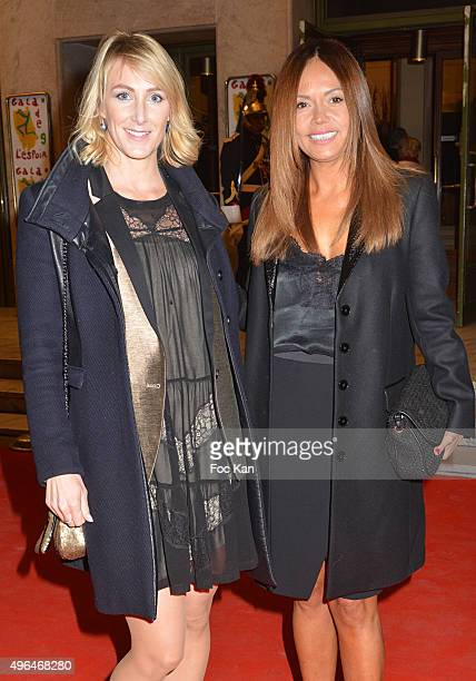 TV presenters Sophie Depooter and Karine Arsene attend '23rd Gala Pour L'Espoir 2015' Auction Show To Benefit Against Cancer Associations at Theatre...