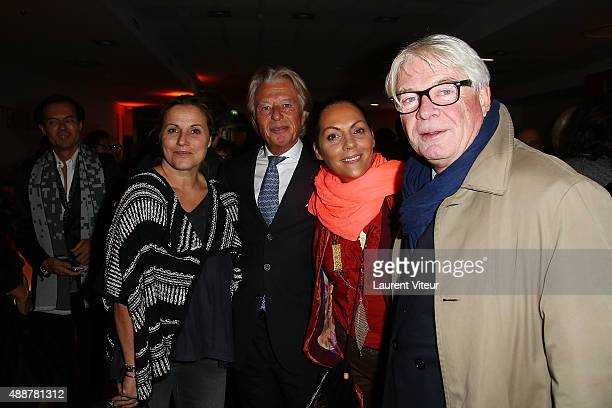 Presenters Sophie Favier Georges Delettrez President of Drouot Princess Hermine de Clermont Tonnerre and Patrice Carmouze attend the grand opening of...