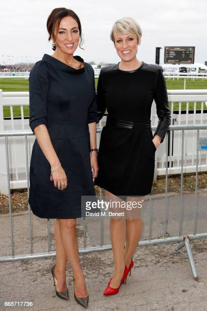 Presenters Steph McGovern and Sally Nugent attend Ladies Day at The 2017 Randox Health Grand National Festival at Aintree Racecourse on April 7 2017...