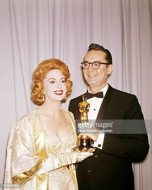 Presenters Steve Allen and his wife actress Jayne Meadows at the 33rd Academy Awards Santa Monica California where they presented the award for Best...