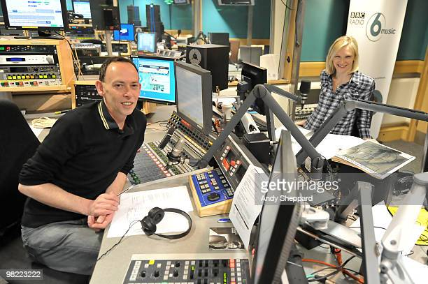 Presenters Steve Lamacq and Jo Whiley host a special edition of The Evening Session at the BBC 6 Music Studios on April 2 2010 in London England