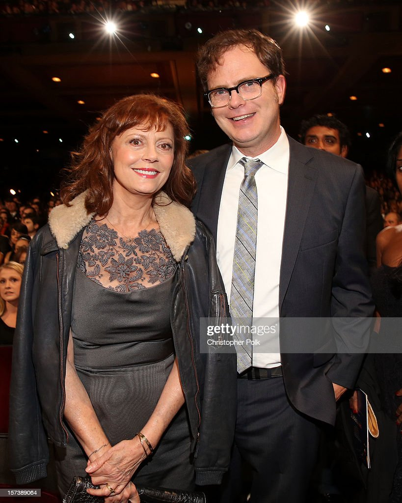 Presenters Susan Sarandon and Rainn Wilson attend the CNN Heroes: An All Star Tribute at The Shrine Auditorium on December 2, 2012 in Los Angeles, California. 23046_005_CP_0324.JPG