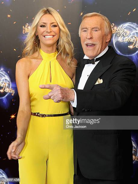 Presenters Tess Daly and Bruce Forsyth arrive at the Strictly Come Dancing 2011 press launch at BBC Television Centre on September 7 2011 in London...