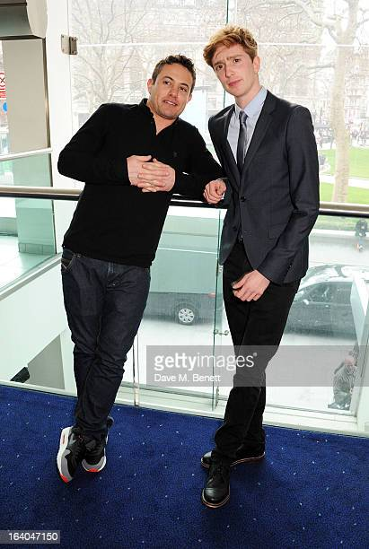 Presenters Warren Brown and Luke Newberry attend the First Light Awards at Odeon Leicester Square on March 19 2013 in London England
