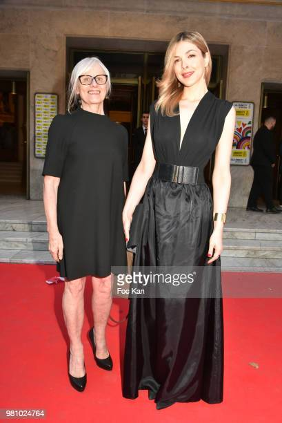 TV presenter/singer Eleonore Boccara and her mother attend the Amnesty International 34 th Gala at Theatre Champs Elysees and after Party at La...