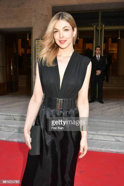 TV presenter/singer Eleonore Boccara attends the Amnesty International 34 th Gala at Theatre Champs Elysees and after Party at La Maison Blanche on...