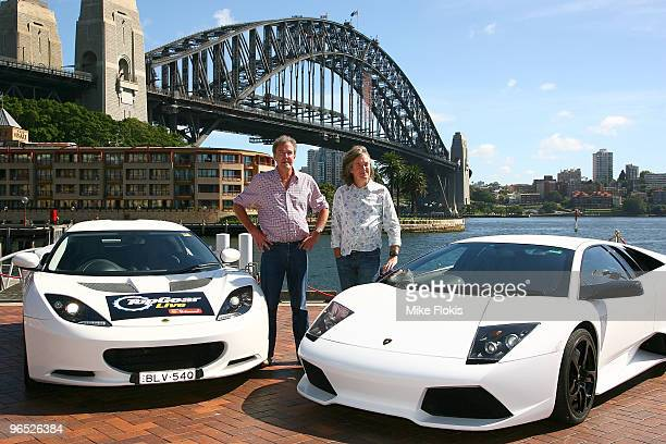 Presenterts Jeremy Clarkson and James May attend the Top Gear Live photo call ahead of the start of the Acer Arena live show tomorrow night at...