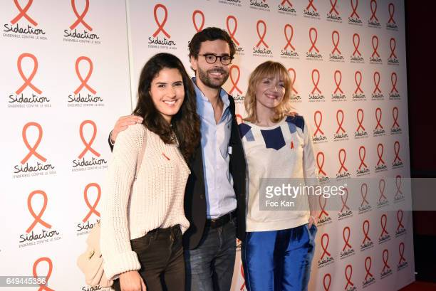TV presenteur Thomas Isle and Maya Lauque attend the Sidaction 2017 Launch Party Photocall at Musee Branly on March 07 2017 in Paris France