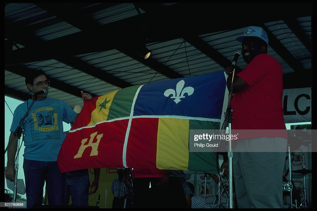 Presenting Creole Flag : Stock Photo