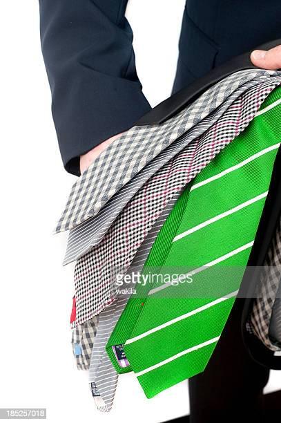 presenting ties - Krawattenverkäufer